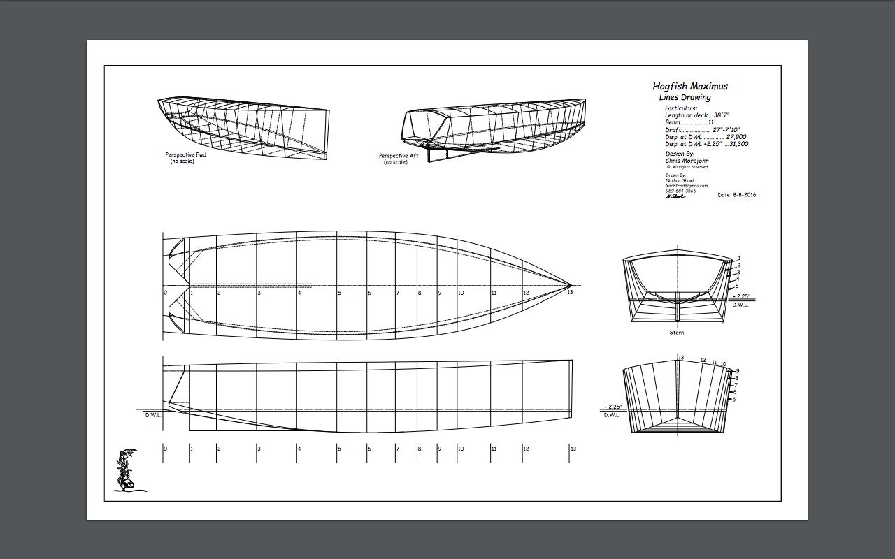 Hogfish Maximus - 44ish sailing sharpie? | Page 22 | Boat Design Net